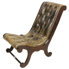 Child's Regency Leather Chair