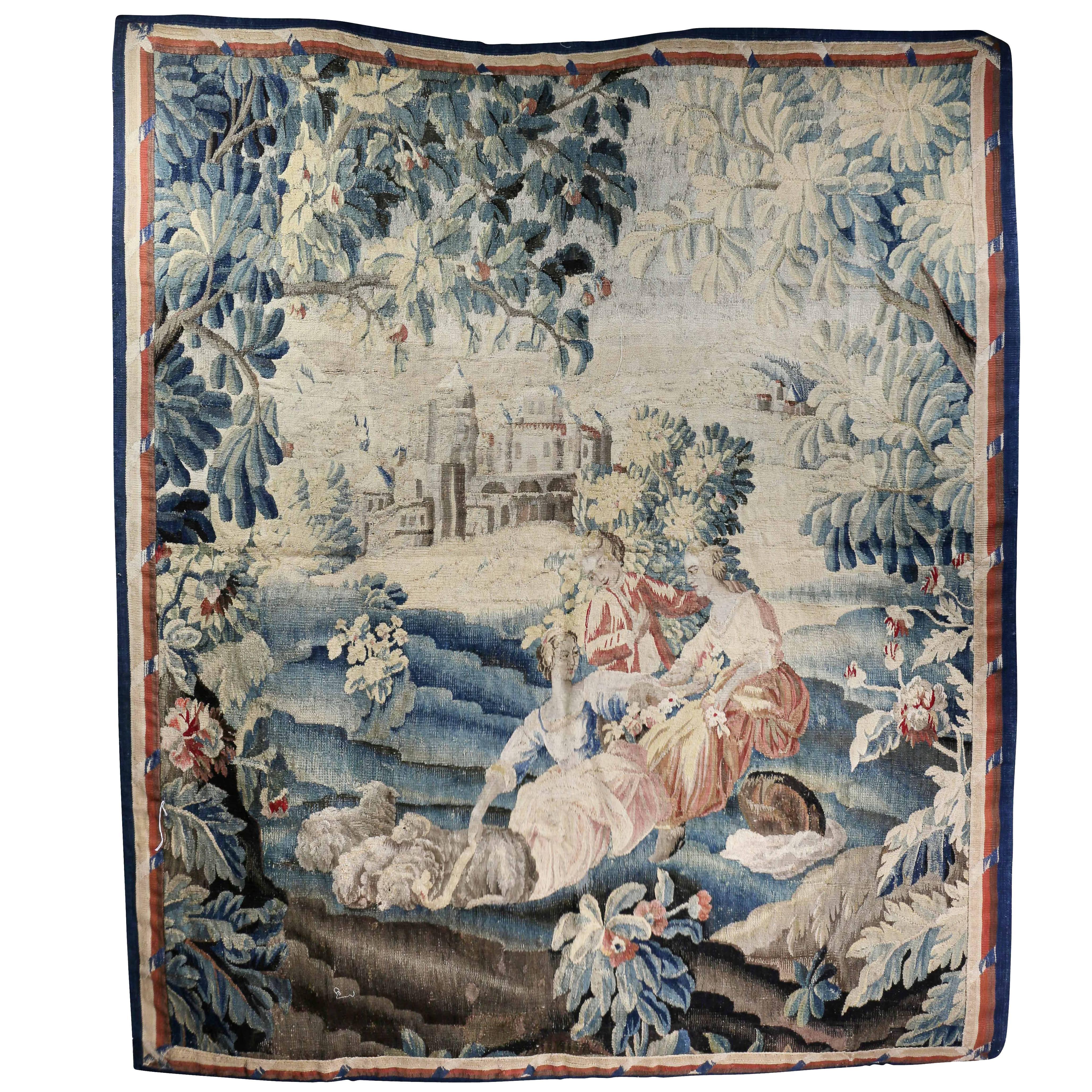 Aubusson Landscape Tapestry