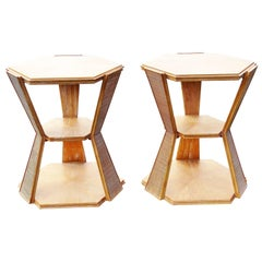 Pair of Deco Style Side Tables Attributed Jean Michel Frank