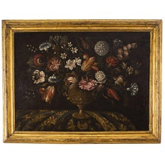 Baroque Oil Painting of Flowers, Spain / Spanish Colonies, circa 1750