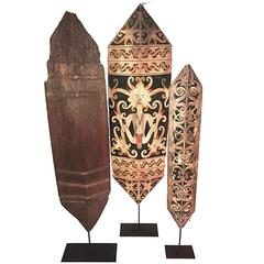Selection of Dayak Shields from Borneo