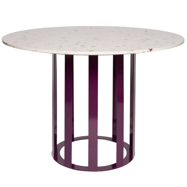 Flux Round Dining Table By Pieces Modern Customizable In Stone Wood - Wood and stone dining table