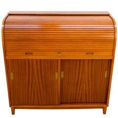Mahogany Roll Front Desk