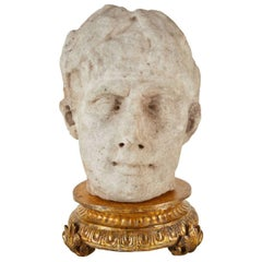 Handsome, Neoclassical Style Bust of Crowned Figure