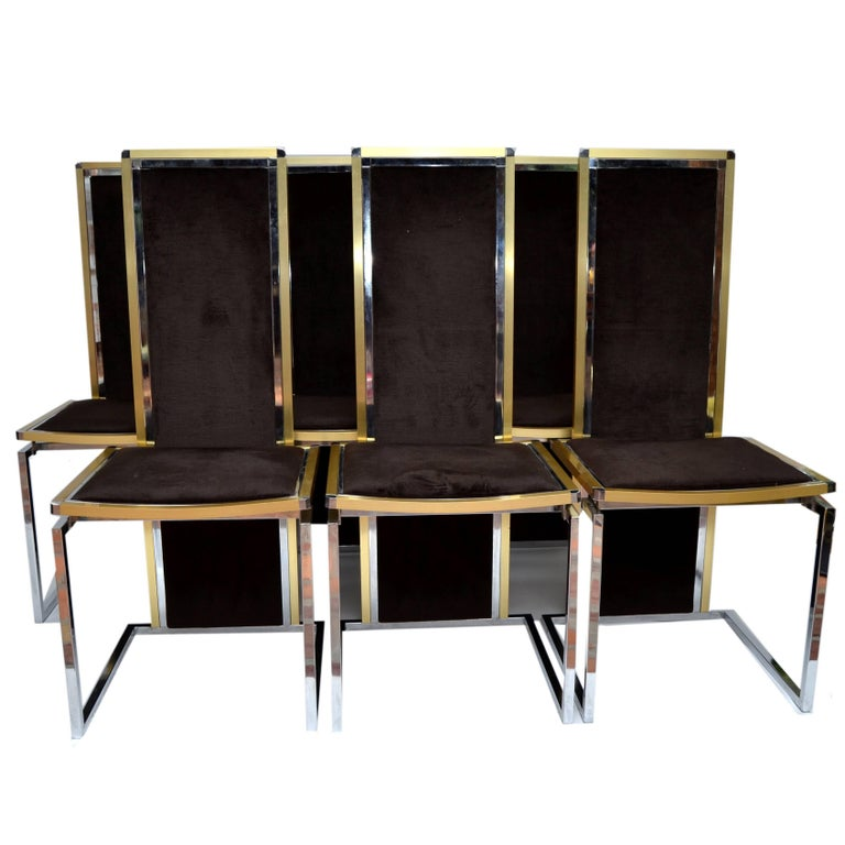 Rome Rega Set Of Six Dining Room Chairs For Sale