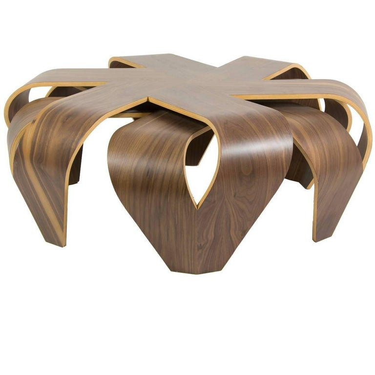 Maria Bentwood Coffee Table In Matt Finish By Victor Aleman For Left For Sale At 1stdibs