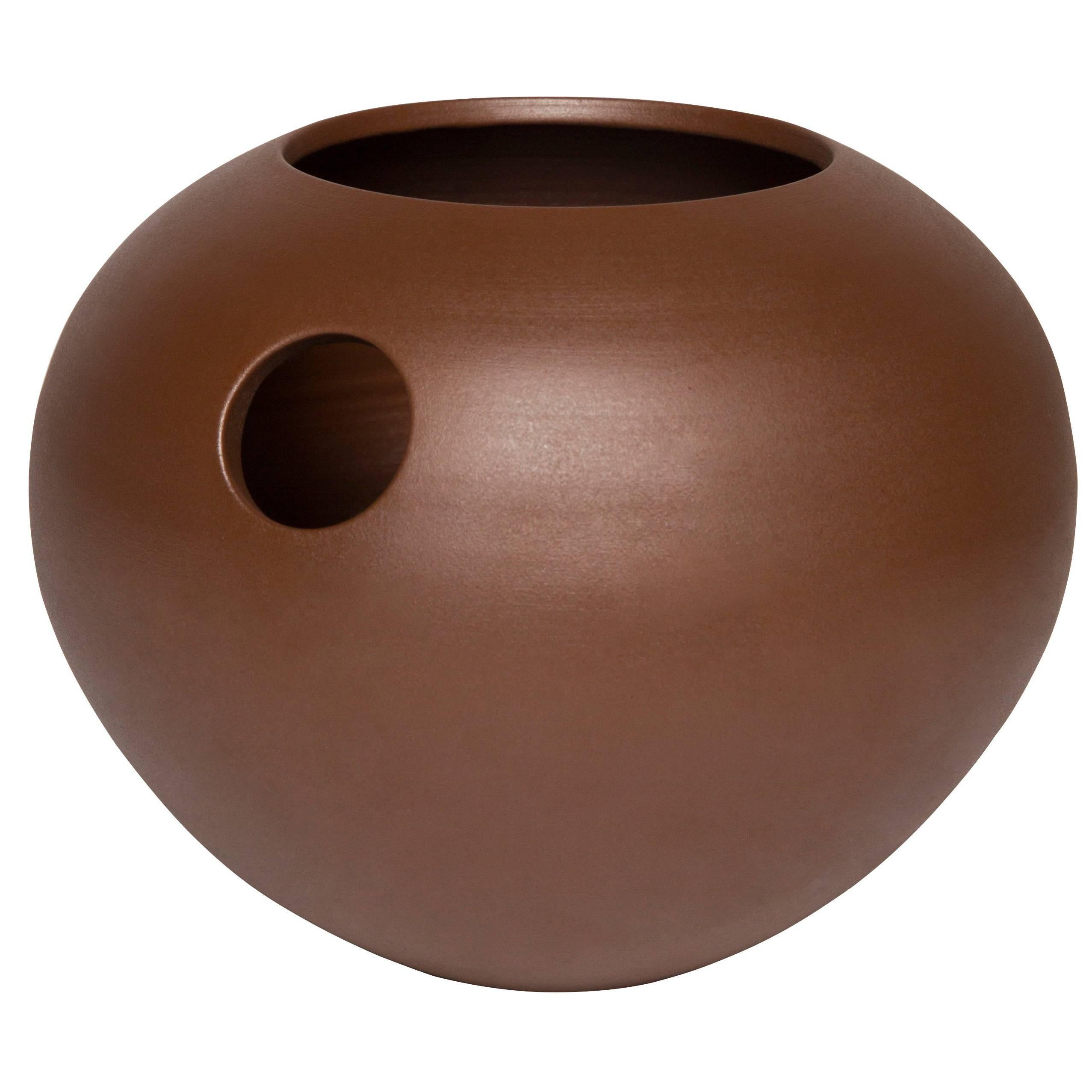 Modern Peony Ceramic Handmade Vase Customizable Rust Orbe