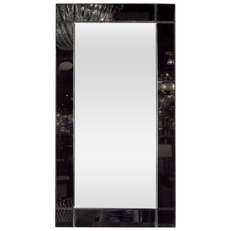 Custom handmade rectangular mirror with beveled black for Custom made mirrors