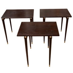 Set of Three Wood Nesting Tables
