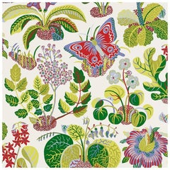 Schumacher Josef Frank Exotic Butterfly Multi-Color Wallpaper Two Roll Set