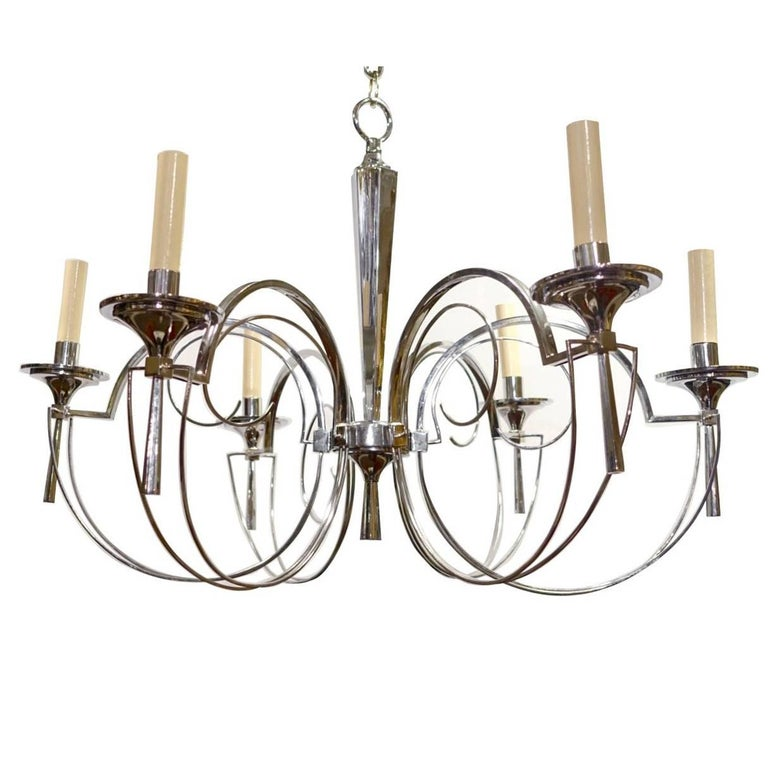 Set of Three Midcentury Italian Chandeliers, Sold Individually For Sale