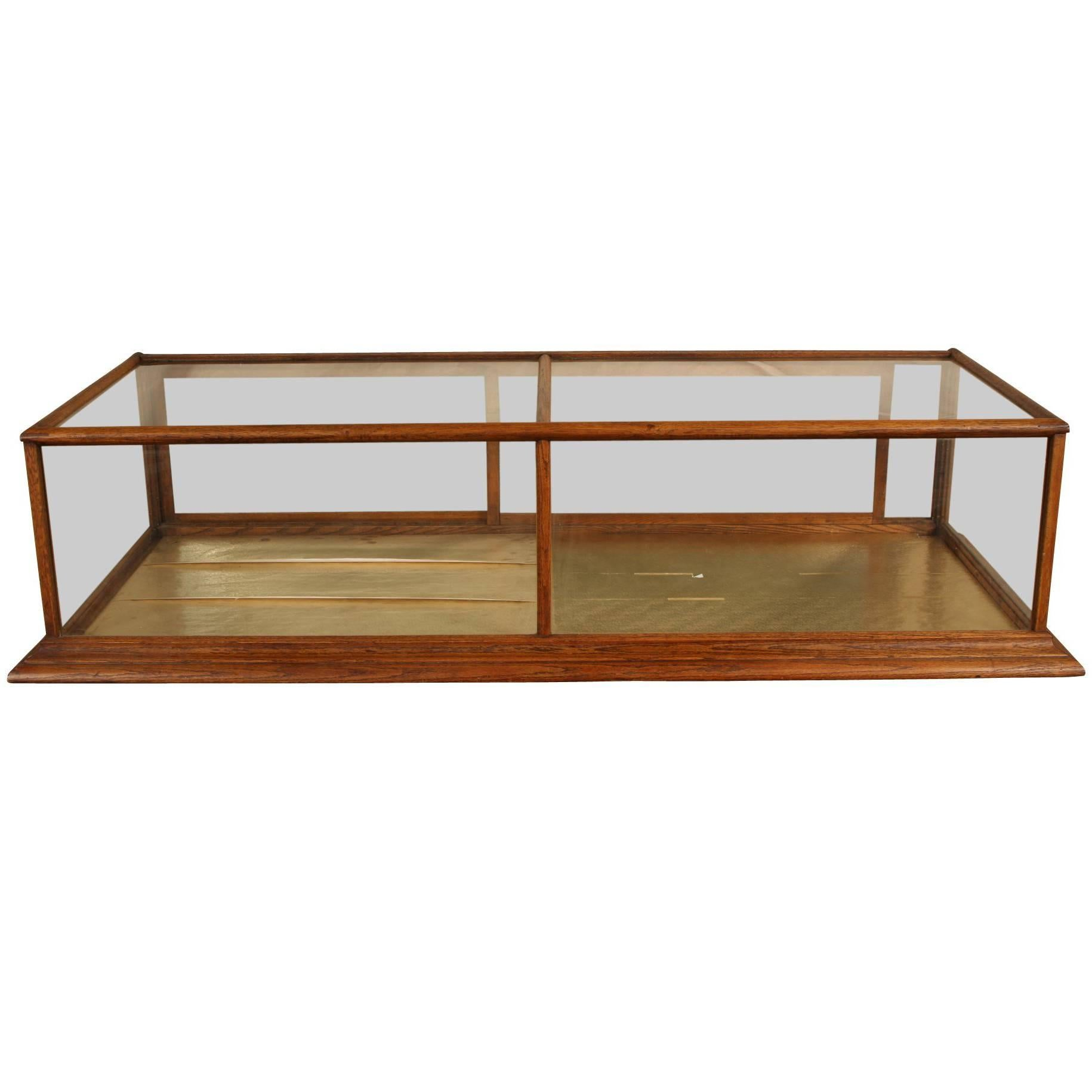 Antique Oak Country Store Display Case