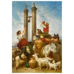 "Richard Ansdell ""Water Carriers of Alhambra"" Painting"