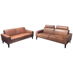 "Sofa Set ""Marchello-L"" by Manufacturer Activineo in 100% Genuine Leather"