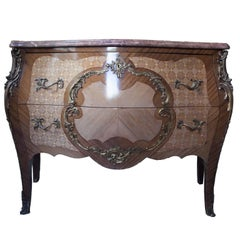 20th Century French Ormolu Gilt Chest with Inlay