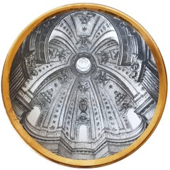 Piero Fornasetti, Vintage Plate from the Series of Church Domes Cupole d'Italia