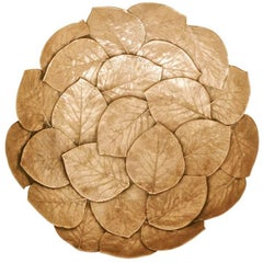 Handmade Brass Cast Leaf Bowl 'Large'