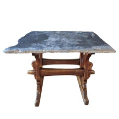 18th Century French Beechwood Trestle Table