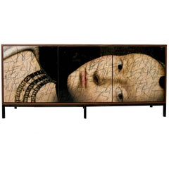 'The Side Eye' Art Door Credenza, Sideboard by Morgan Clayhall
