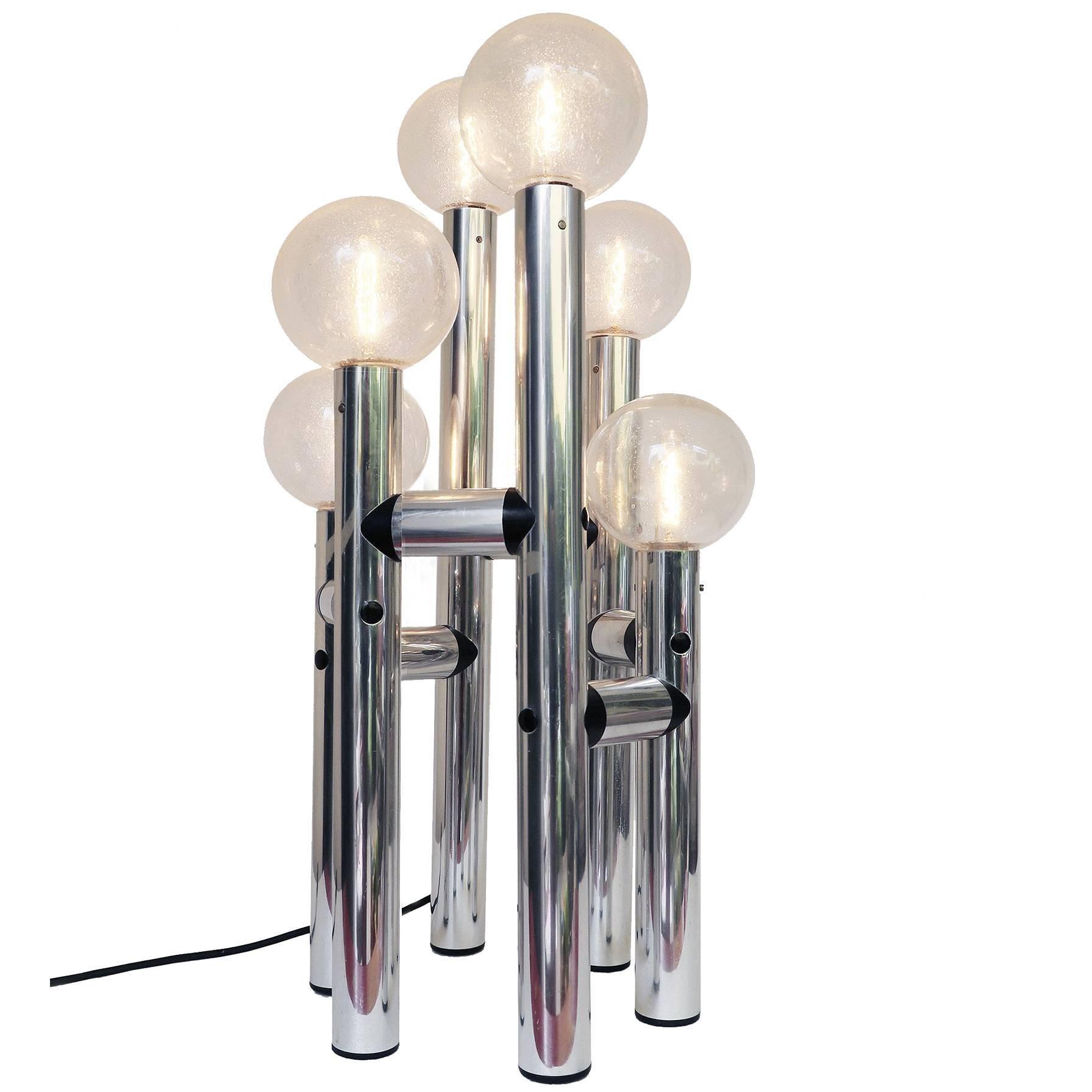 J.T. Kalmar Atomic Tower Floor Lamp RS6-TL Space Age 1972