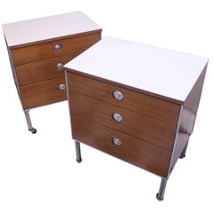 Pair of Mid-Century Modern End Table or Night Stands by Raymond Loewy
