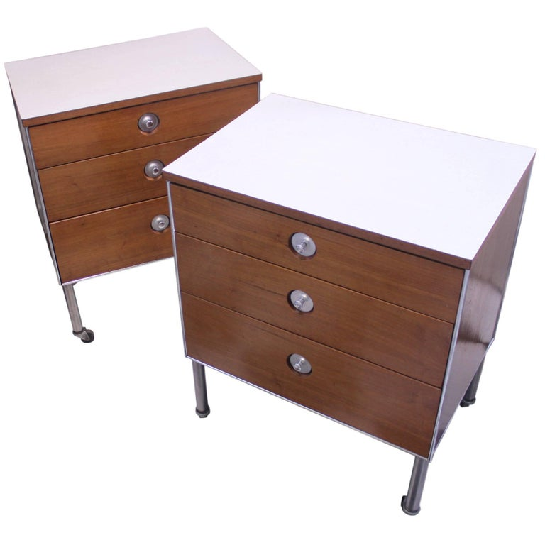 Pair Of Mid Century Modern End Table Or Night Stands By Raymond Loewy For Sale At 1stdibs
