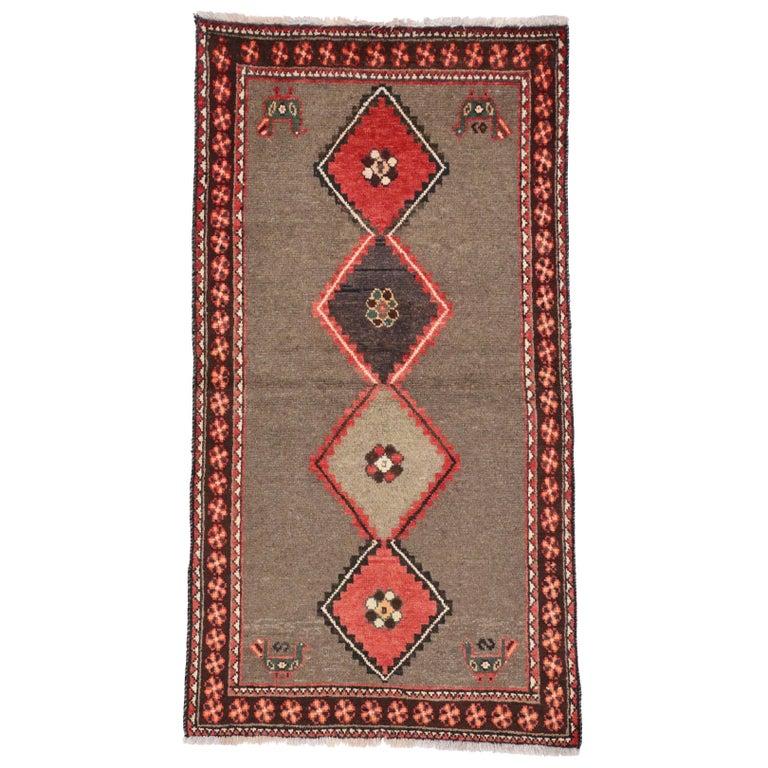 Vintage Persian Shiraz Rug with Modern Tribal Style