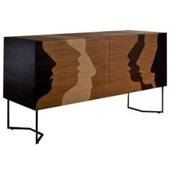 'Silenzio' Wooden Sidebord
