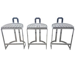 Chrome, Steel Barstools from the 1980s