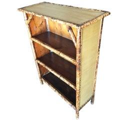 Restored Tiger Bamboo Four-Tier Book Shelf