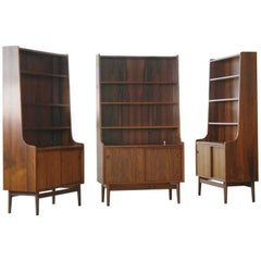 Danish Rosewood Bookcase by Johannes Sorth for Bornholm's Mobler