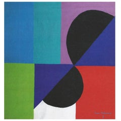 Sonia Delaunay, Nocturne Matinale, Original Aubusson Tapestry