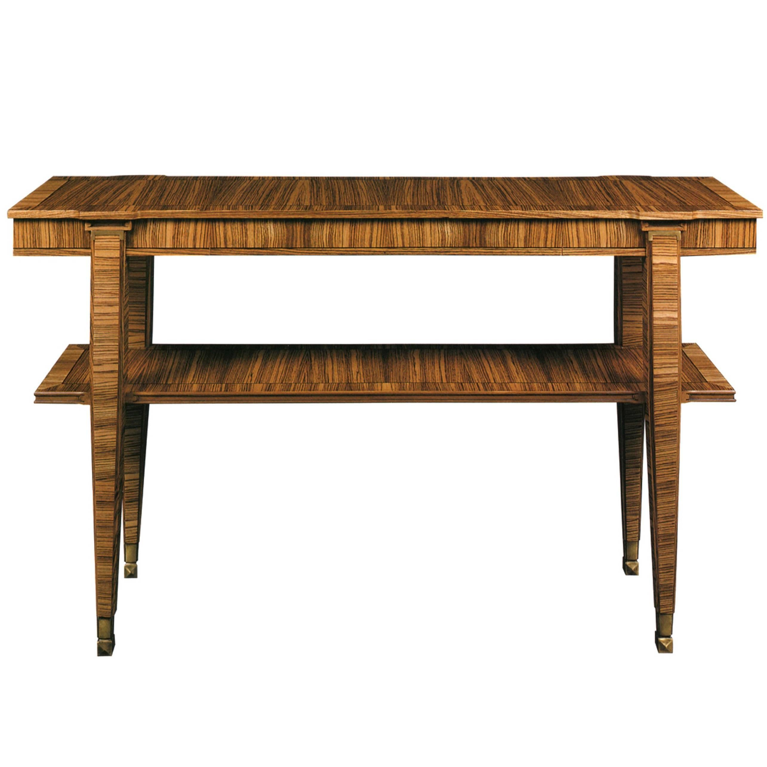 Zebrawood Console Lucien Rollin Collection By William Switzer 1