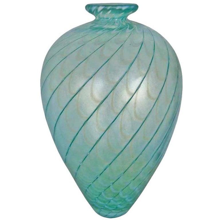 """Bertil Vallien Kosta Boda Sweden """"Fenicio"""" Glass Vase For Sale"""
