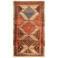 Antique Tribal Kurdish Persian Rug Runner
