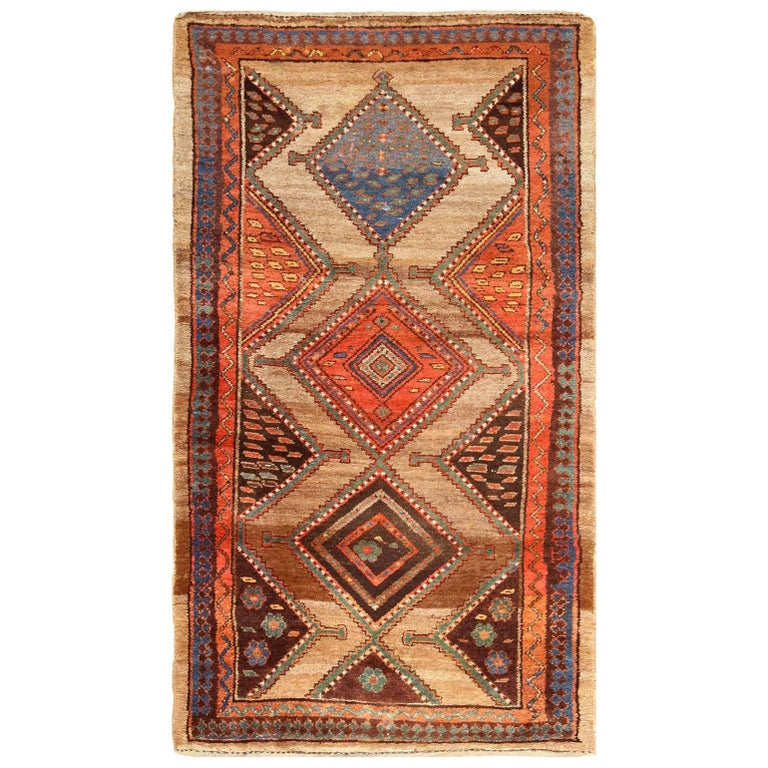 Persian Tribal Rugs: Antique Tribal Kurdish Persian Rug Runner For Sale At 1stdibs