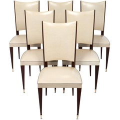 Set of Curved Back Mid-Century Dining Chairs