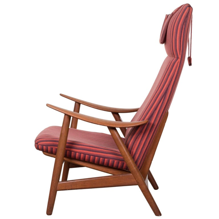Illum Wikkelso Teak Lounge Chair Model 10H for Soren Willadsen, Denmark