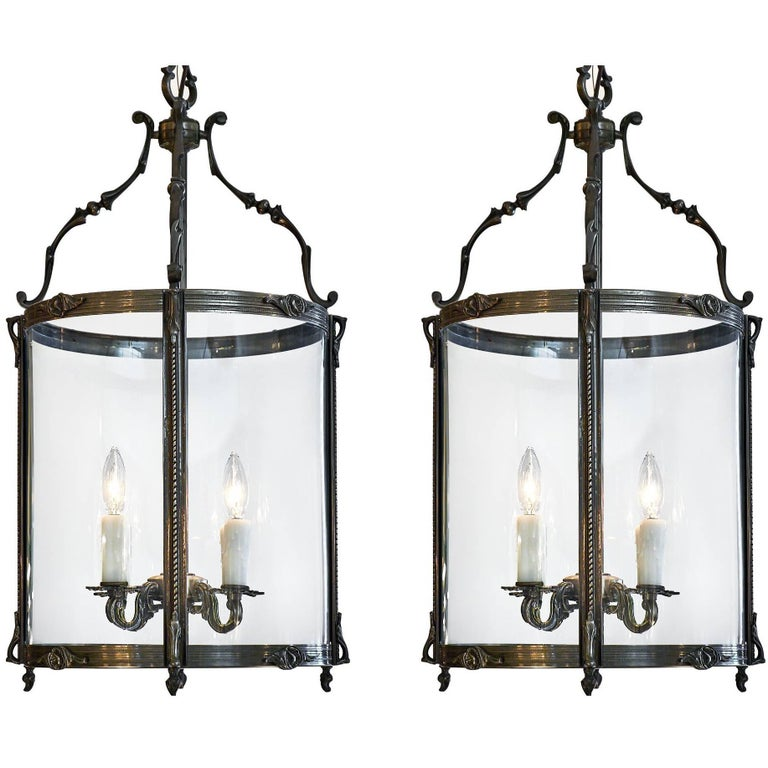 Pair of Antique French Louis XIV Style Lanterns