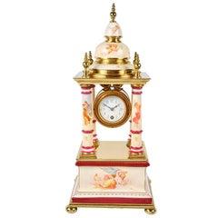 Vienna Porcelain Mantel Clock