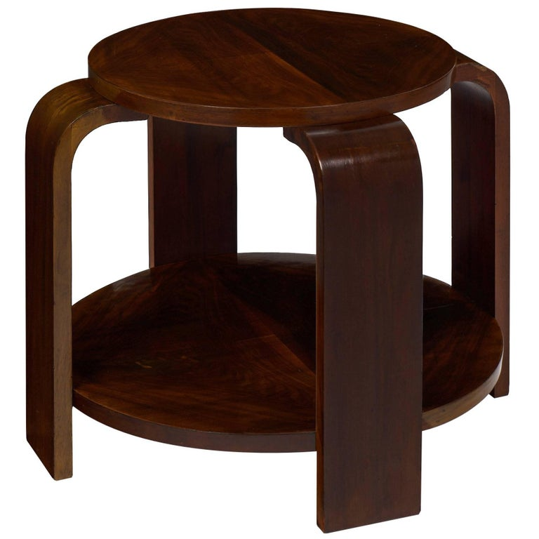 Walnut art deco period gueridon for sale at 1stdibs for Art deco period