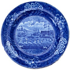 Landing of General Lafayette Staffordshire Plate by James & Ralph Clews