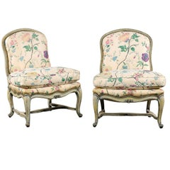 Pair of 1980s Yale Burge Louis XV Style Side Chairs