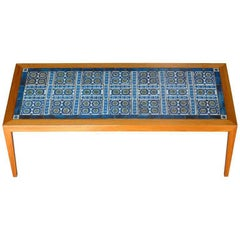 Teak Coffee Table, Severin Hansen Jr. for Haslev with Tiles by Royal Copenhagen