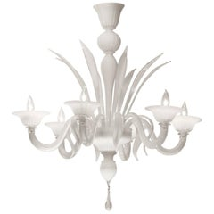 Murano Opaline Glass Chandelier
