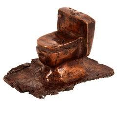 Cast Bronze Toilet