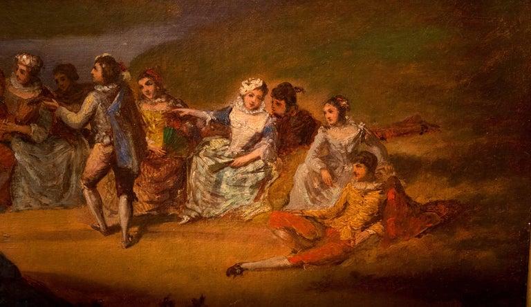 Oil on Canvas Banquet Scene French School, circa 1800 For Sale 1