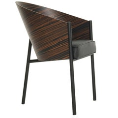 """Costes"" Curved Striped Wenge or Bamboo Plywood Armchair by P. Starck for Driade"