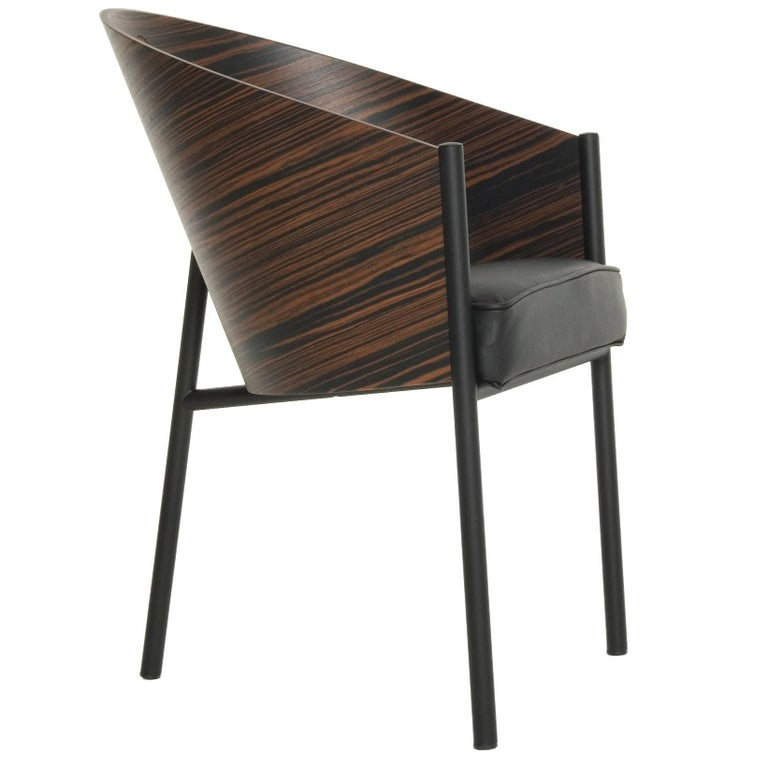"""""""Costes"""" Curved Striped Wenge or Bamboo Plywood Armchair by P. Starck for Driade"""