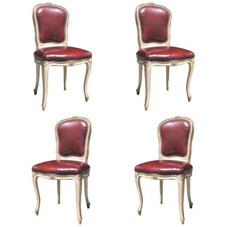 Set of Four Louis XV Style Chairs